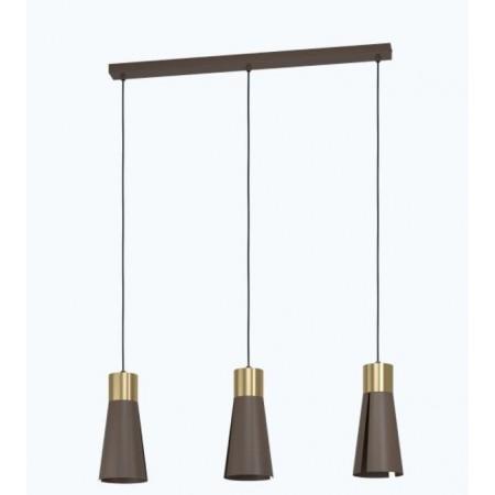 Lámpara Colgante Lineal Eglo Losalomas 3xGU10 Dorado y Topo