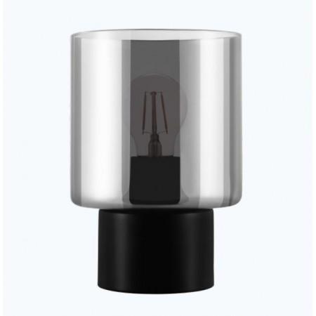 Lámpara Sobremesa Eglo Gorosiba 1xE27 Negro Transparente