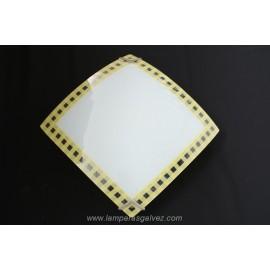 Plafon cuadrado cenefa amarillo