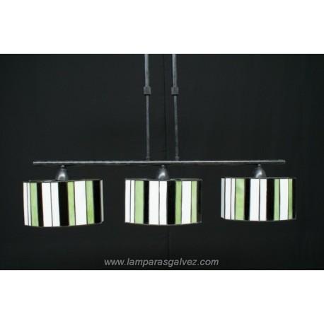 Lámpara Colgante Ovalado con Pantallas Tiffany Betis 3 Luces