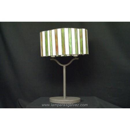Lámpara de Sobremesa Tiffany Primavera Ovalada 46cm