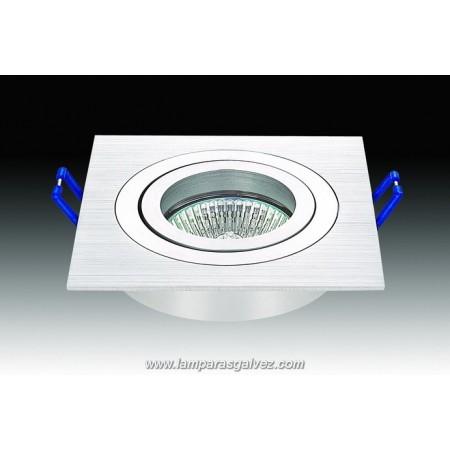 Halógeno empotrable LED aluminio cuadrado GU-10