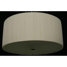 Lámpara Colgante Níquel con Pantalla en Crema 4 Luces