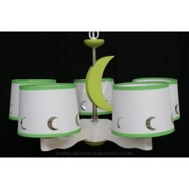 Lampara infantil luna verde