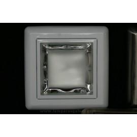 Downlight cuadrado blanco superficie
