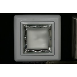 Downlight cuadrado blanco superficie