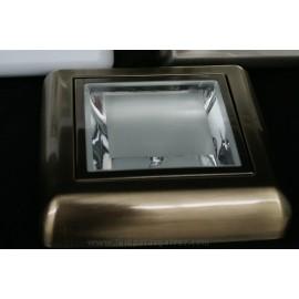 Downlight superficie cuero