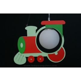 Lámpara tren verde
