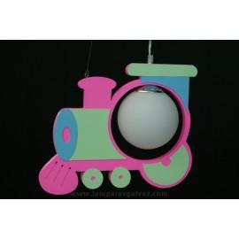 Lámpara tren rosa