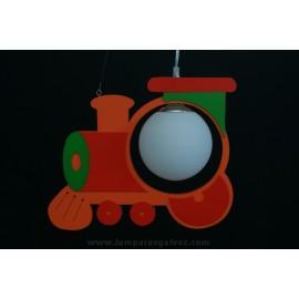 Lámpara tren naranja