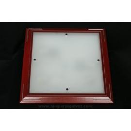 Plafón de Madera de Cerezo Cristal Translúcido 43cm