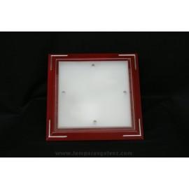 Plafón de Madera de Cerezo Cristal Translúcido 34cm