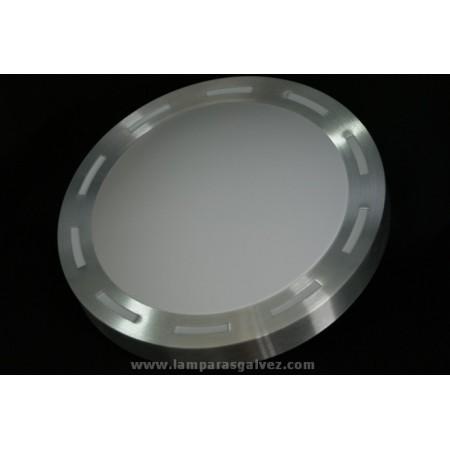 Plafón de Exterior en Aluminio Pulido 4 Portalámparas 48cm
