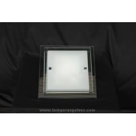 Plafón Cuadrado de Cristal Biselado 31cm