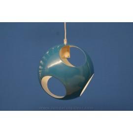 Lámpara Colgante Bola de Metal con Agujeros 25cm Azul