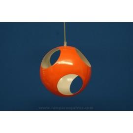 Lámpara Colgante Bola de Metal con Agujeros 25cm Naranja