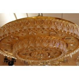 Plafón gigante oro cristal