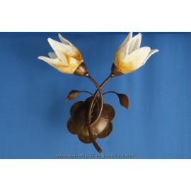 Aplique marron tulipa decorada