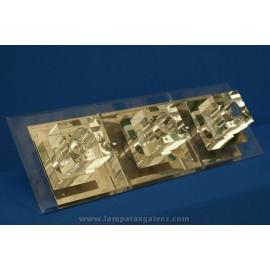 Plafon cromo cristal + led
