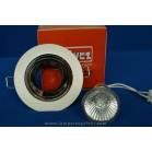 Foco Empotrable LED Halógeno GU10 Redondo Blanco y Cromo