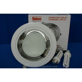 Downlight empotrable redondo blanco sin bombillas