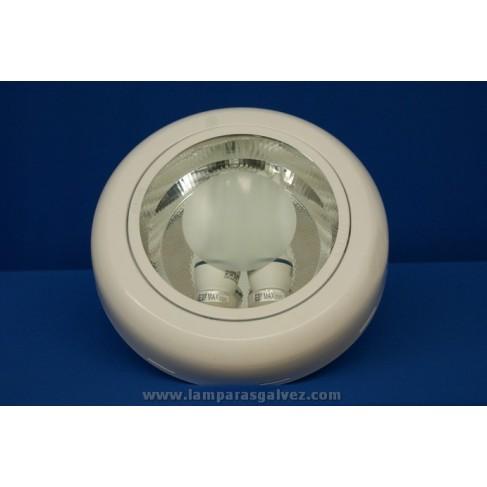 Downlight de Superficie Blanco 2 Bombillas E27 27cm
