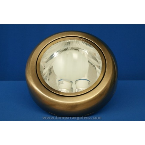 Downlight superficie redondo bronce viejo