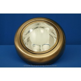 Downlight de Superficie Bronce Viejo 2 Bombillas E27 27cm