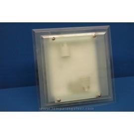 Plafón de Cristal Translúcido Cuadrado 35cm