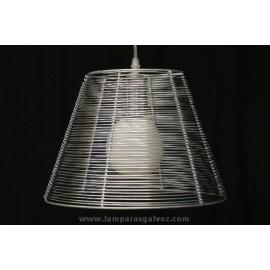 Lámpara Colgante Aluminio Rejilla con Bombilla Globo