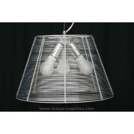 Lámpara Colgante Aluminio Rejilla 3 Luces