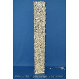 Pie salon aluminio-cromo