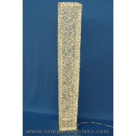 Pie salon halogeno aluminio-cromo
