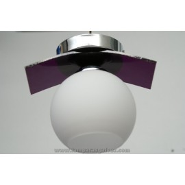 Plafon-aplique cromo purpura 1L