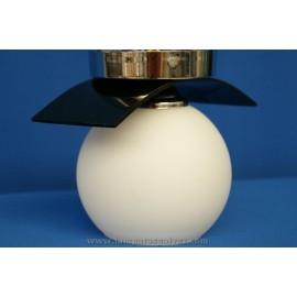 Plafon-aplique cromo negro 1L