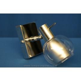 Foco cromo cristal 1 luz