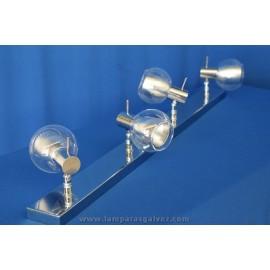 Regleta cromo cristal 4 luces
