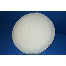Plafón de Cristal Blanco Decorado Espiral