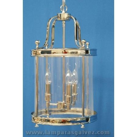 Farol cilindro clasico cromo brillo