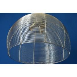 Lámpara Colgante Aluminio Cúpula de Rejilla 3 Luces