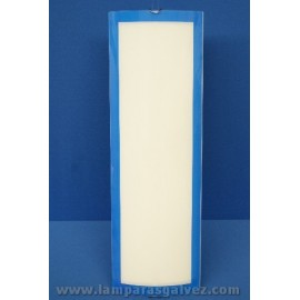PLAFON RECTANGULAR AZUL 4 LUCES