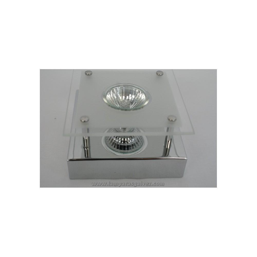 halogeno de superficie cromo 1l gu 10 lamparas galvez