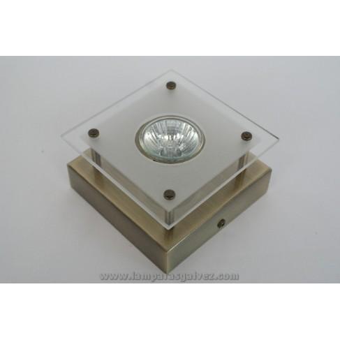 halogeno de superficie bronce viejo 1l gu 10 lamparas galvez