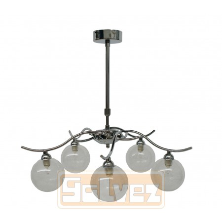 Lámpara de Brazos con Tulipas de Filamento de Cristal 5 Luces
