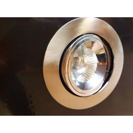 Foco Empotrable LED Halógeno GU10 Redondo Niquel Satinado y Cromo