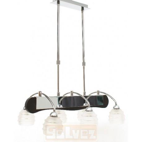 Lámpara cromo wengue