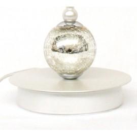 Lámpara de Sobremesa Perla y Cristal Craquelle con Pantalla