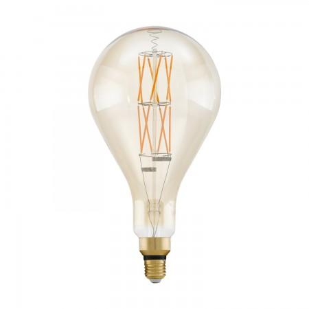 Bombilla Vintage LED Gigante Eglo Alargada Regulable 8W