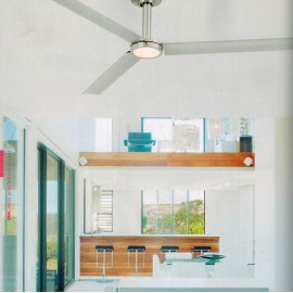 TAO Ventilador de techo níquel mate con motor DC y Luz LED
