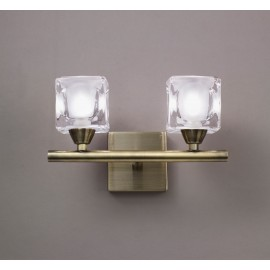 Aplique de Pared Mantra Cuadrax Bronce Viejo 2 Luces